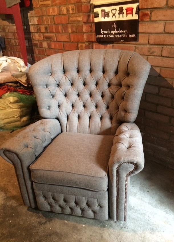 deep buttoned chair