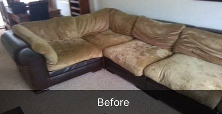 corner sofa before