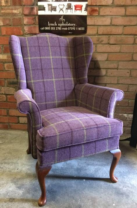 Heather tartan chair