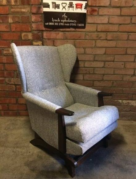 Antique rocking chair grey