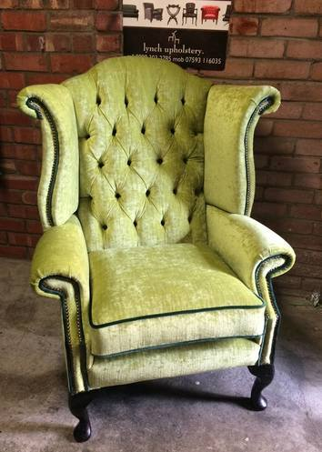 Lime wing back chair