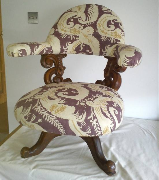 antique swivel chair..