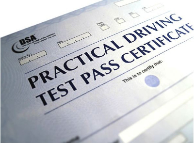 driving test certificate picture