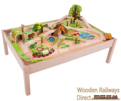 sc 1 st  Wooden Railways Direct & Bigjigs Railway Dinosaur Train Table and Train Set