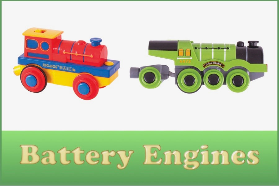 Wooden Railway Battery Engines