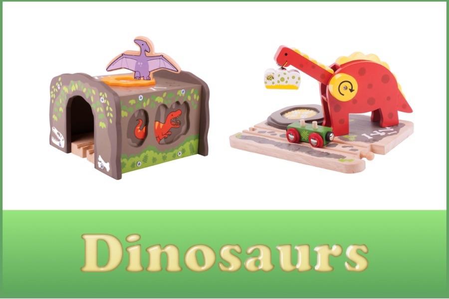 Wooden Railway Dinosaur Range