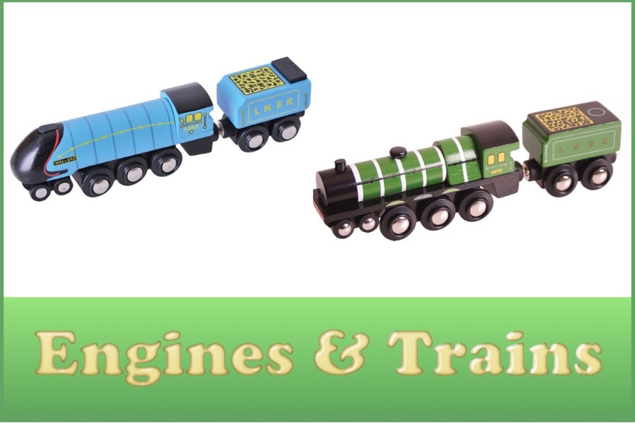 Wooden Railway Engines and Trains