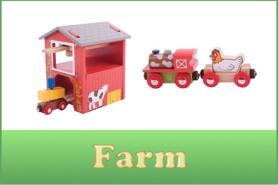 Wooden Railway Farm Range