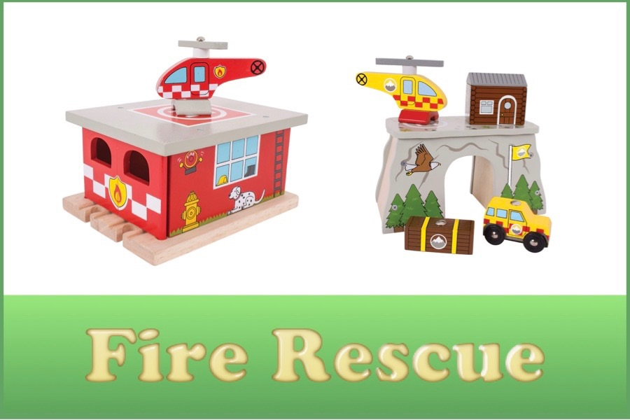 Wooden Railway Fire and Rescue Range