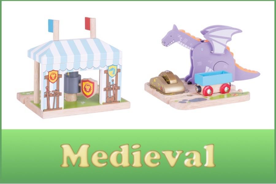 Wooden Railway Medieval Range
