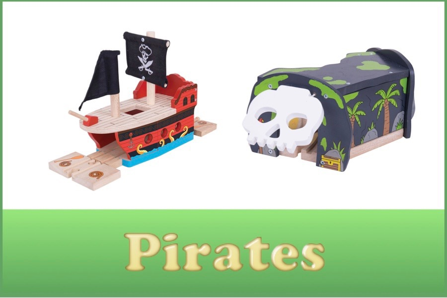 Wooden Railway Pirate Range