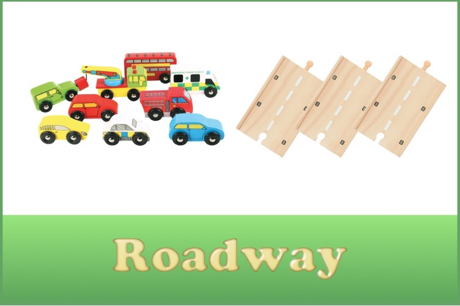 Wooden Railway Road System