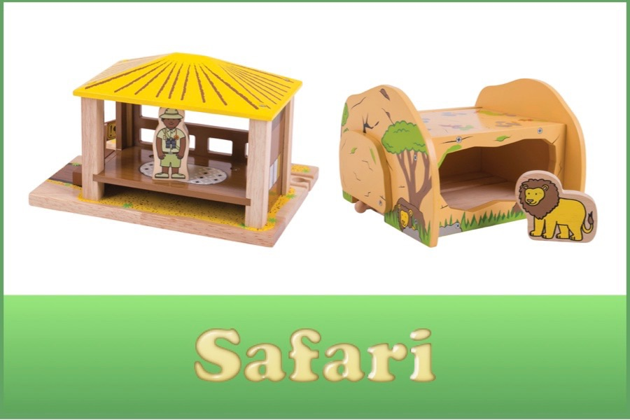 Wooden Railway Safari Range