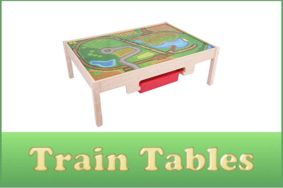 Wooden Railway Train Tables