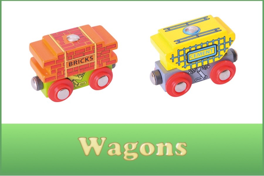 Wooden Railway Wagons and Carriages
