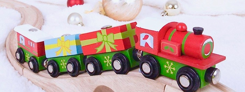 Wooden Railways Christmas Train