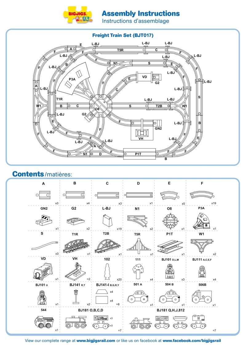 Freight Train Set Instructions BJT017