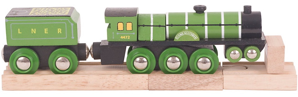 Wooden Railway Flying Scotsman Engine