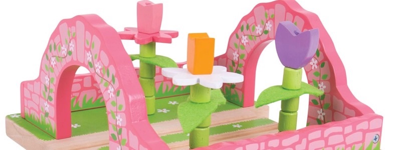 Wooden Railways Flower Garden