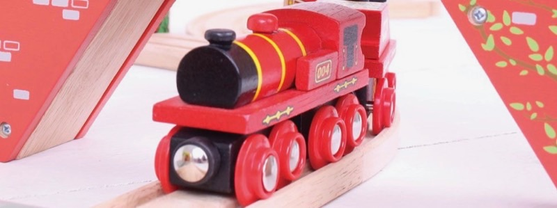 Wooden Railways Red Engine