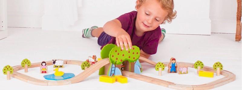 Wooden Railways Farm Train Set