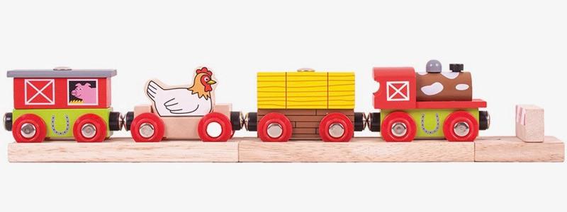 Wooden Railways Farmyard Train