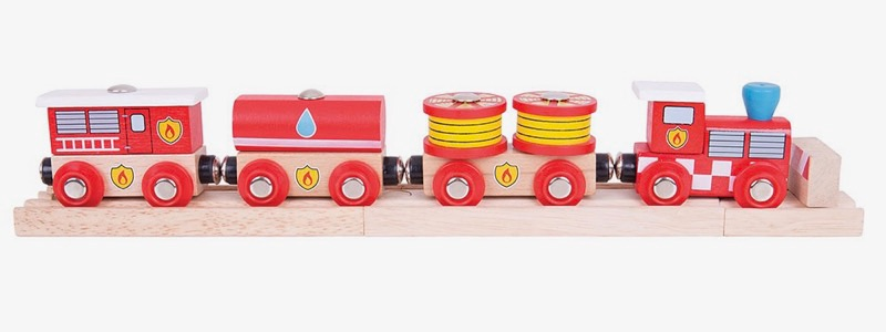 Wooden Railways Direct Fire Rescue Train