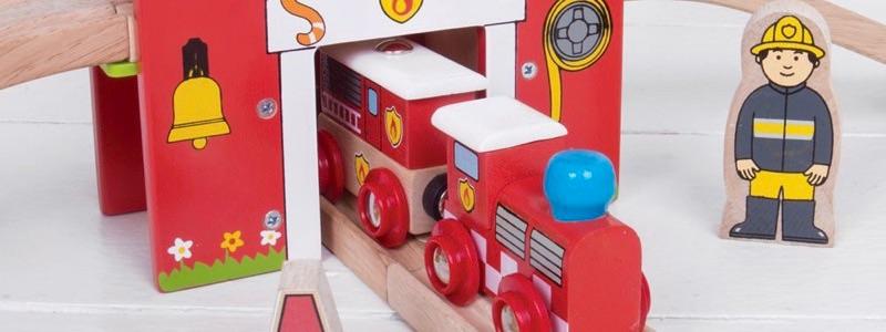 Wooden Railways Fire Rescue