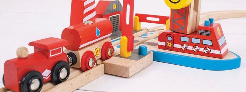 Wooden Railways Fire Rescue Boat