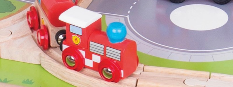 Wooden Railways Fire Train