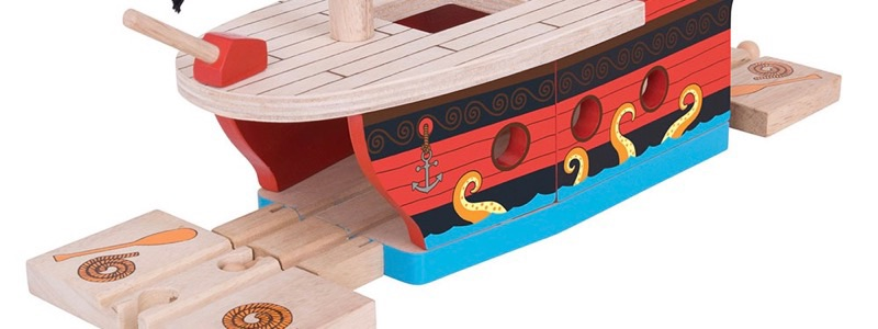 Wooden Railways Pirate Galleon