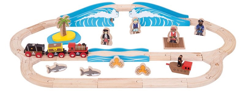Wooden Railways Pirate Train Set