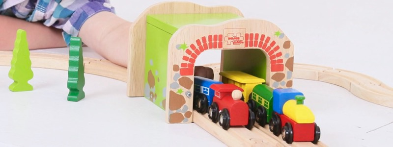 Wooden Railways Double Tunnel