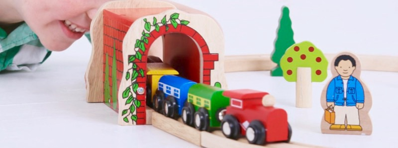 Wooden Railways Red Brick Tunnel