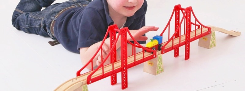 Wooden Railways Suspension Bridge