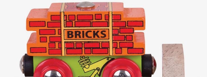 Wooden Railways Bricks Wagon