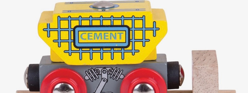 Wooden Railways Cement Wagon