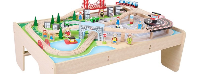 Wooden Railways City Train Table