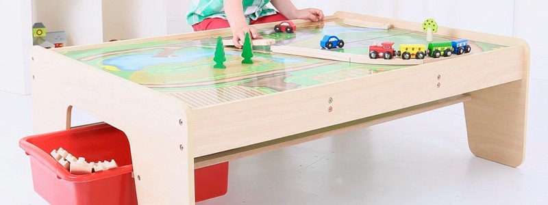 Wooden Railways Train Table with Drawer
