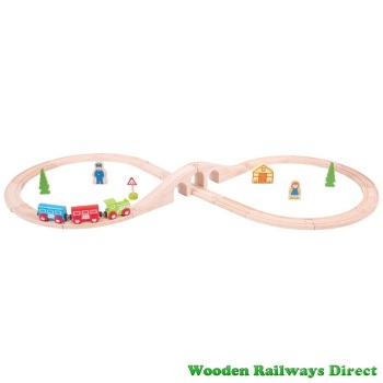 Bigjigs Railway Figure of Eight Train Set