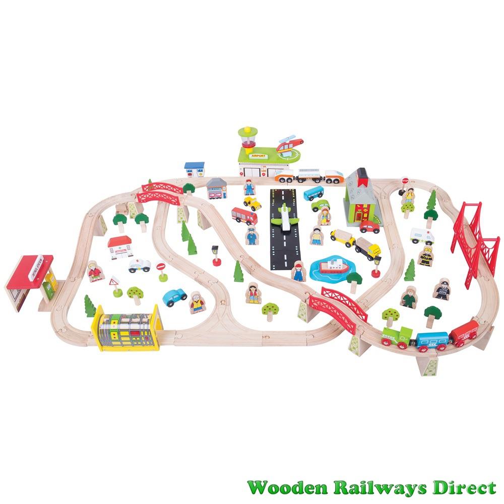 Bigjigs Railway Transportation Train Set