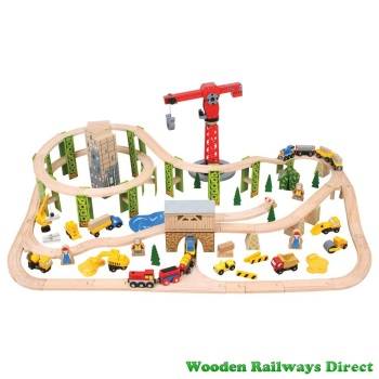 Bigjigs Railway Construction Train Set