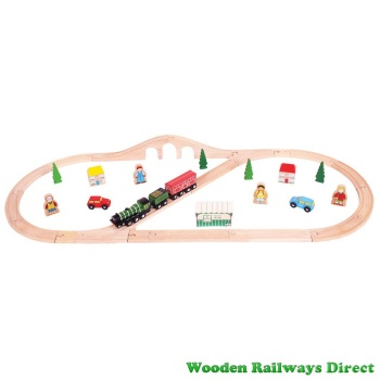 Bigjigs Wooden Railway Flying Scotsman Train Set