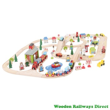 Bigjigs Railway City Road and Rail Set