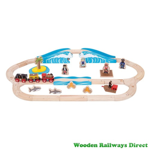 Bigjigs Railway Pirate Train Set