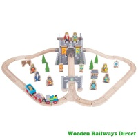 Bigjigs Wooden Railway Medieval Train Set