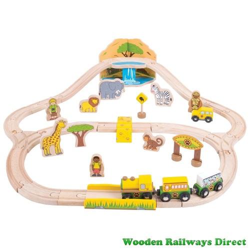 Bigjigs Wooden Railway Safari Train Set