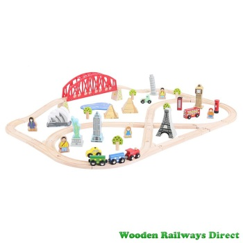 Bigjigs Railway Around the World Train Set