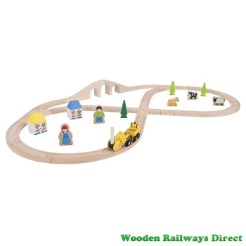 Bigjigs Railway Rocket Train Set