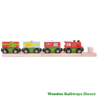 Bigjigs Wooden Railway Christmas Train